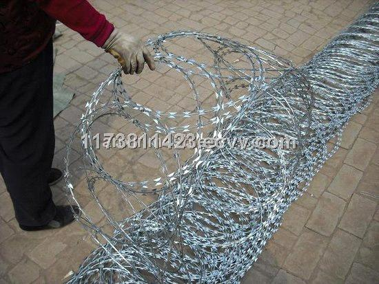 galvanized razor barbed wire/stainless steel razor barbed wire