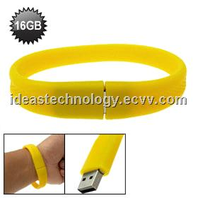 Wrist Brand PVC USB Flash Drive for Women and Kid