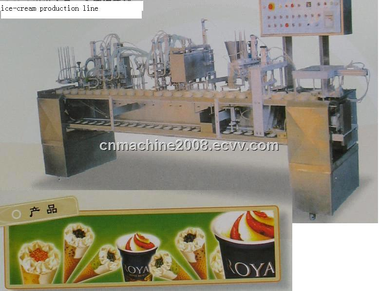ice cream machine, ice cream freezing tunnel,