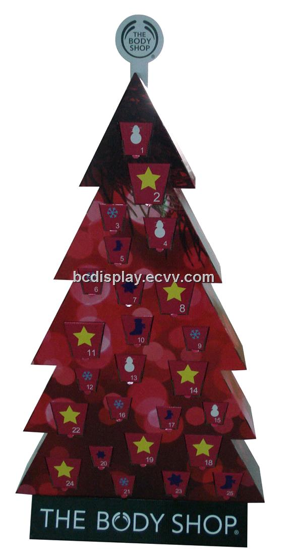 Christmas Tree Display Stand.Paper Christmas Tree Display Shelf