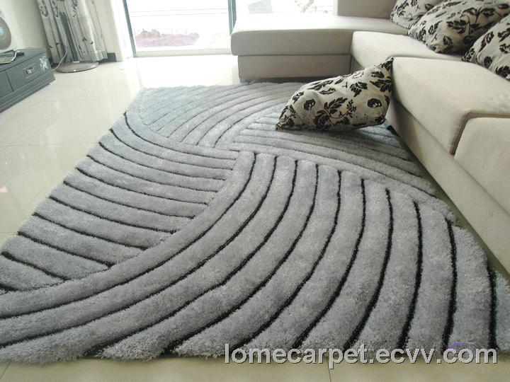 Polyester Microfiber Mixed With Silk Gy Rug Carpet Good Quality