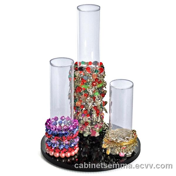3 Pole Acrylic Countertop Bracelet Display Perspex Reloving Holder