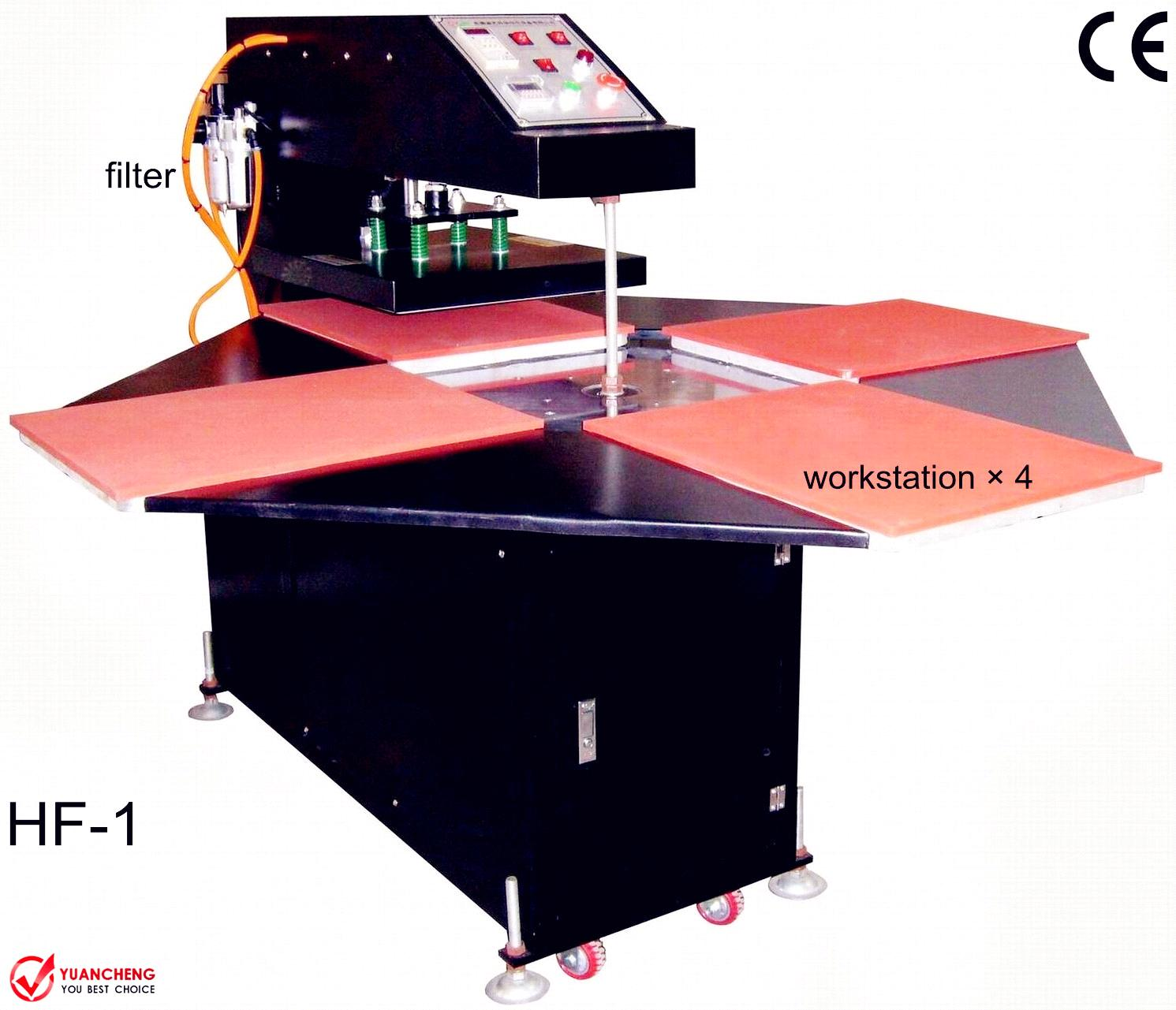 4 Rotate Pneumatic Printer Print Flat Substrates Video Digital Fabric Heat