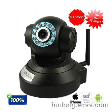 H.264 Night IR-CUT WiFi Indoor pan/tilt IP Camera With SD Card Slot