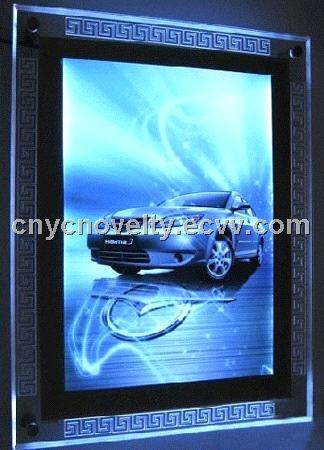 Plexiglass crystal led light box