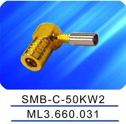 SMB female connector,Crimp,right angle,SMA-C-50kw2