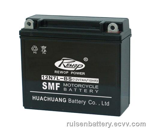 SMF Motorcycle battery 12N7L-BS,sealed lead acid, UPS battery