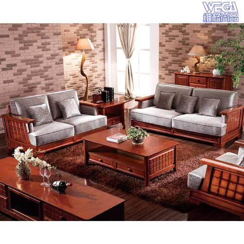 Wood Sofa Sets ~ Solid wood living room sofa set f purchasing souring