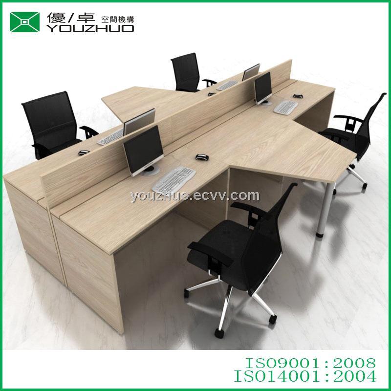 T16 All Melamine Laminated Sheet Mfc Modern Office Desk Side Table Partition Workstation