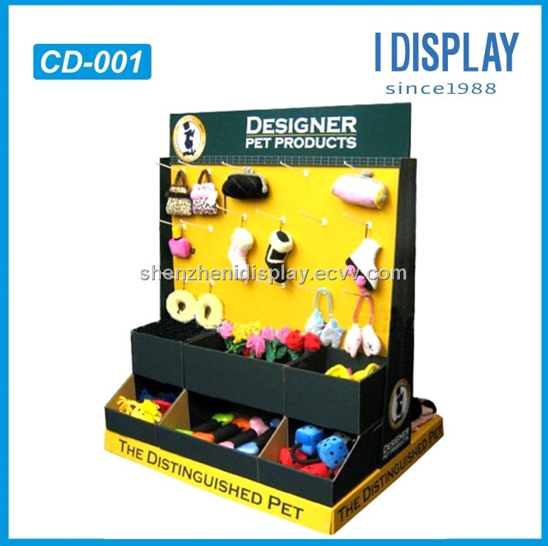 corrugated cardboard display counter for SMALL JEWELRY