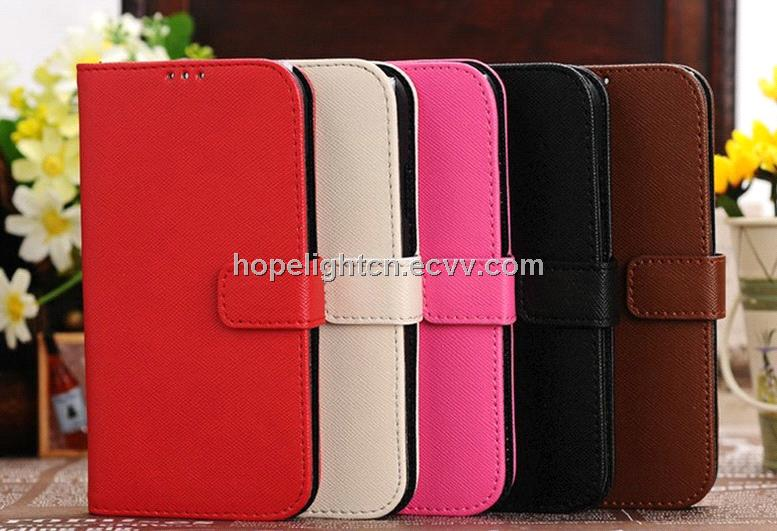 wholesale dealer 0701e 60b9f Cross Pattern PU Leather Cover for Samsung Galaxy S4/i9500