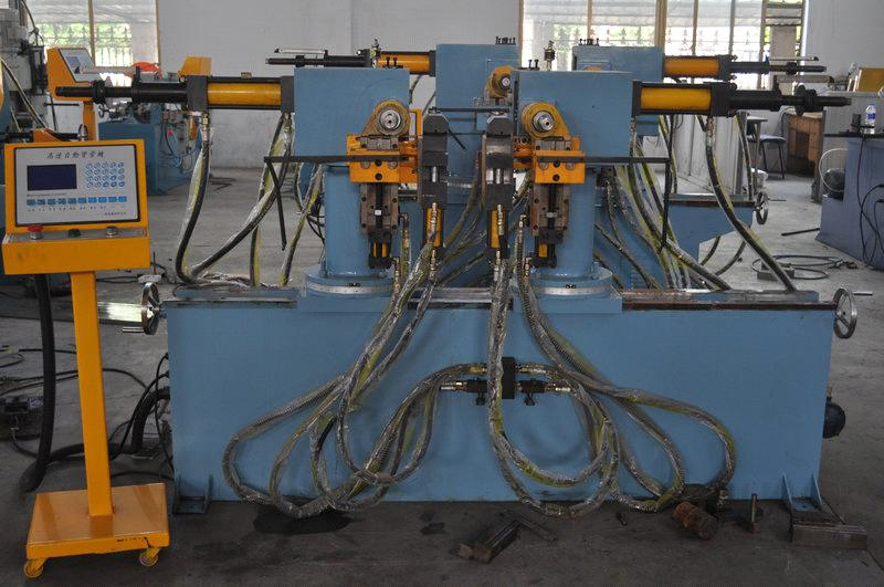 double head draulic tube bending machine