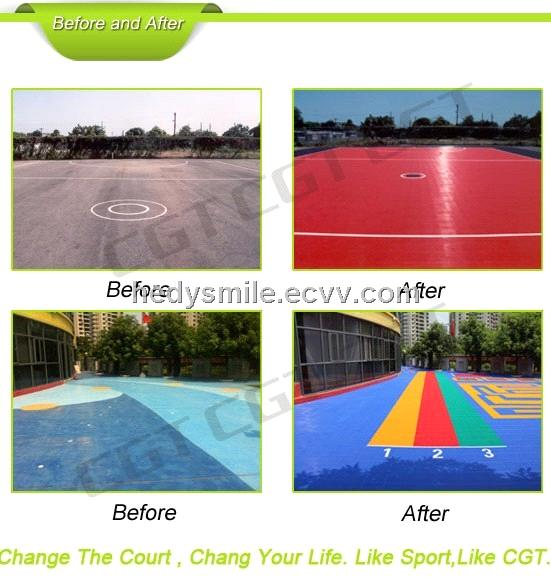 100% Guarantee High Quality  modified PP Exclusive modular volleyball court tiles