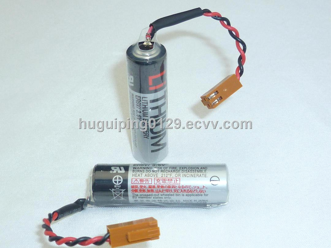 3.6V Lithium Battery ER6V with brown plug(TOSHIBA)