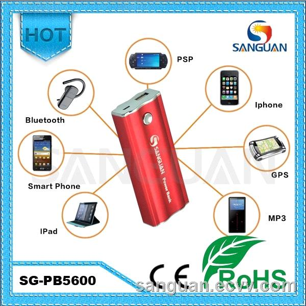 5600mah Power Bank for Mobile/ iPhone / iPad / GPS