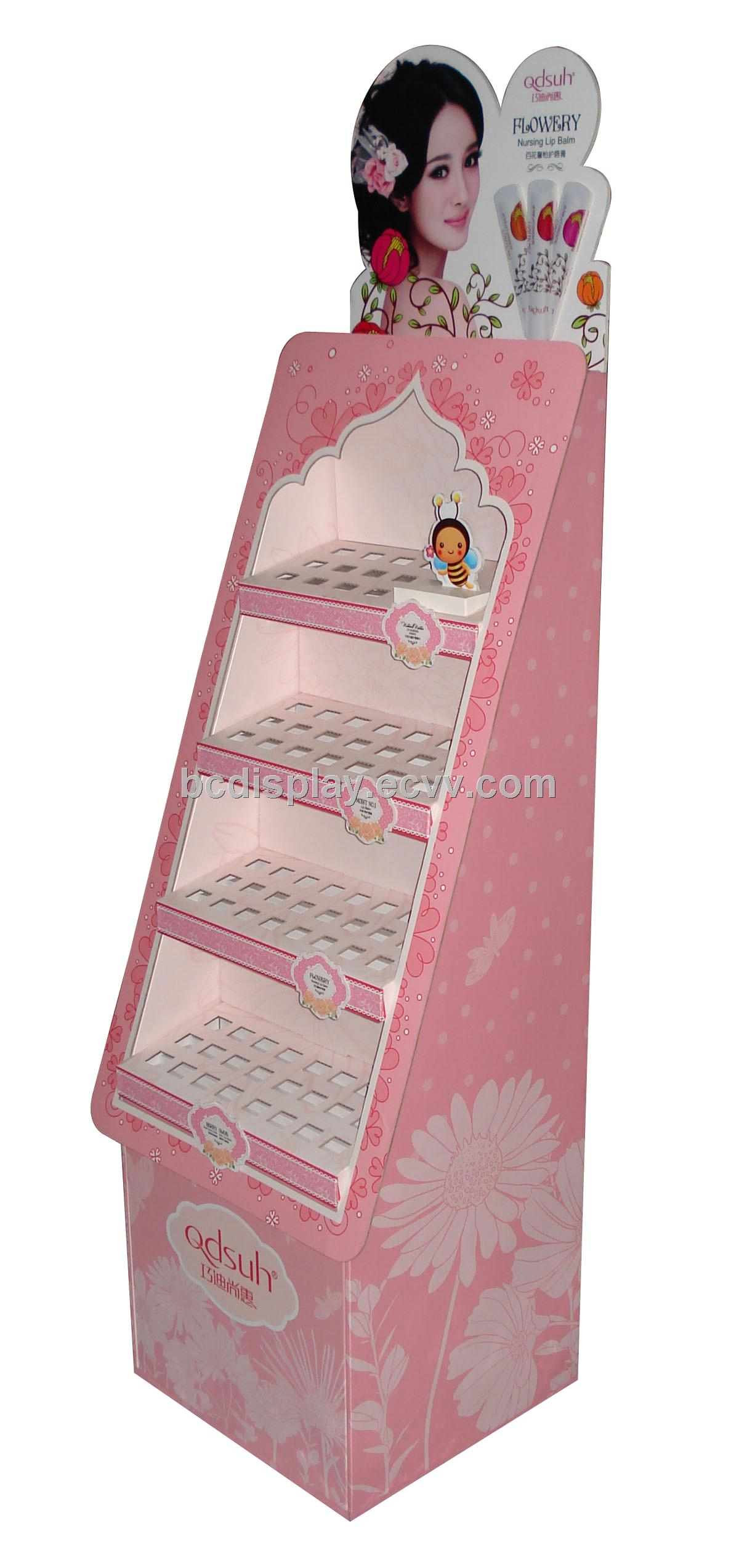 Cosmetics Paper Display Rack Purchasing Souring Agent Ecvv