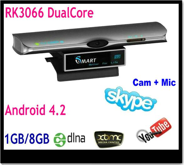 Dual core Android 4 2 Smart TV Box with Camera MIC make