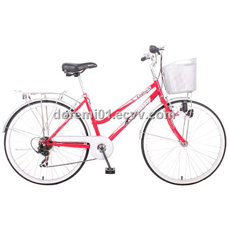 GA-029, 26'' lady's bicycle, Hi-ten steel frame/fork, SHIMANO