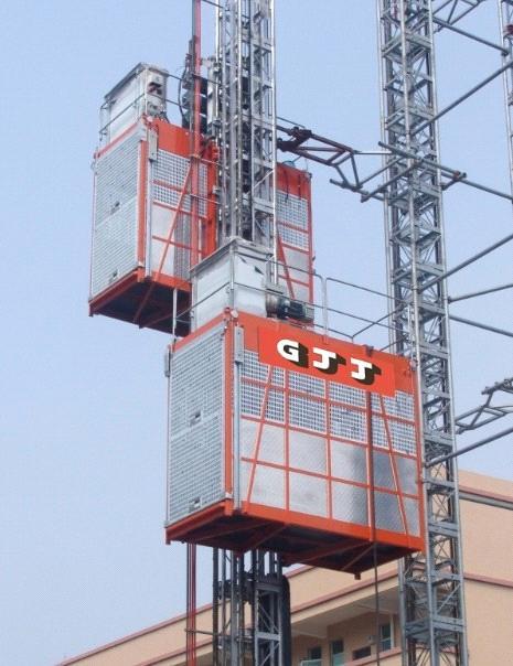 GJJ BAODA ZOOMLION SC200/200 construction hoist from China