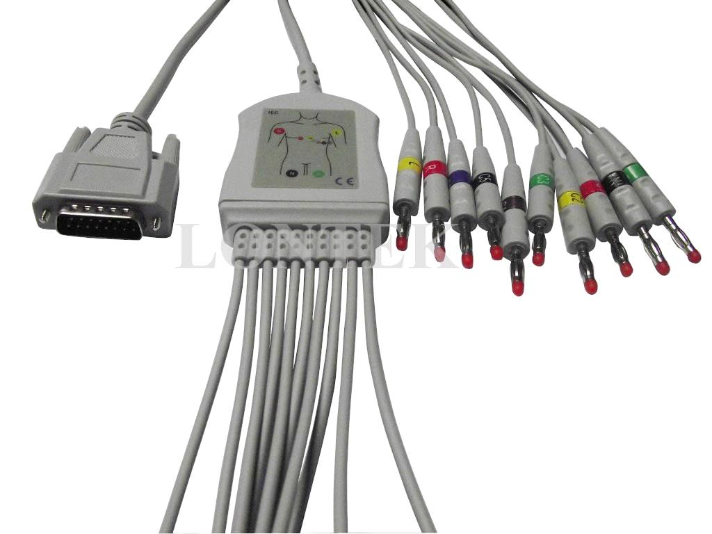 Nihon Kohden EKG 10 lead cable one piece type IEC color code ...