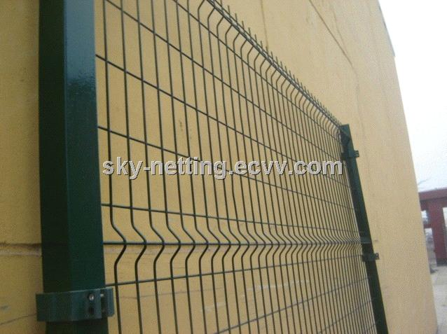 Ral6005 5.0mm Wire Metal Welded Fence Panel / Panel Fencing for Road ...