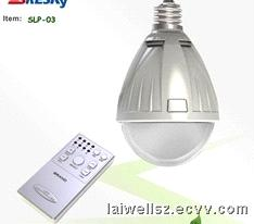 Remote Controlled LED Bulb with Timer (LW-SLP03)