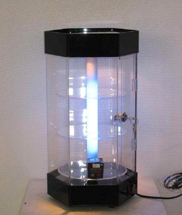 Greatest Revolving Acrylic Jewelry Display Showcase LED Lighting Perspex  YL45