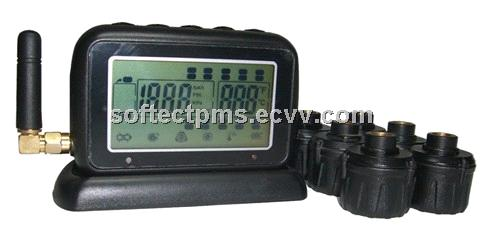 TPMS for truck and trailer external sensors