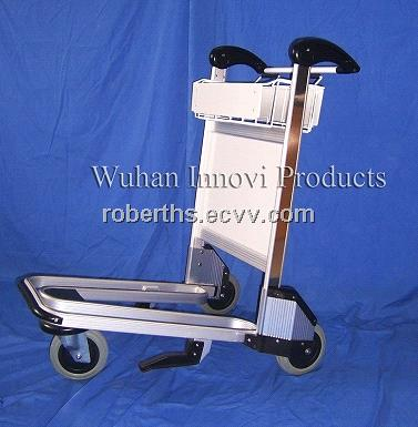 aluminum airport trolley with flowback handle