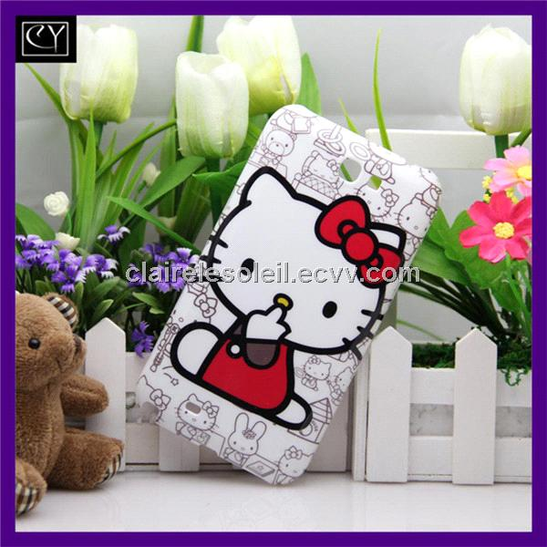 cute hello kitty plastic cellular skin cases
