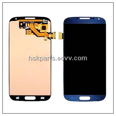 mobile phone lcd dispaly with digitizer assembly for samsung galaxy s4 i9500 blue