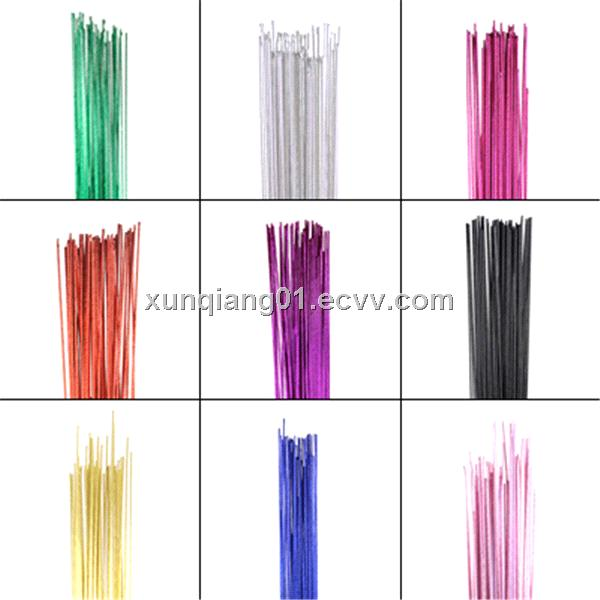 2013 christmas decorative metallic color wire/papre covered cut wire for craft