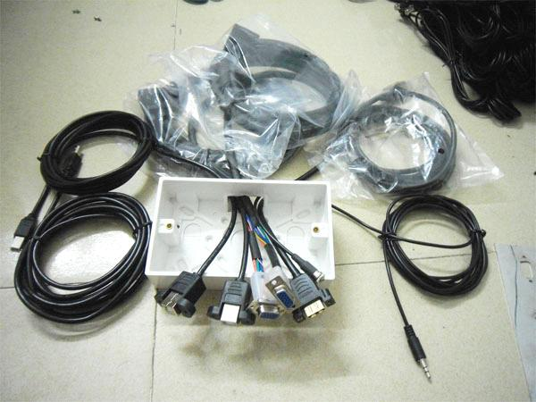AV PLATE AND CABLE ASSEMBLY, 10M