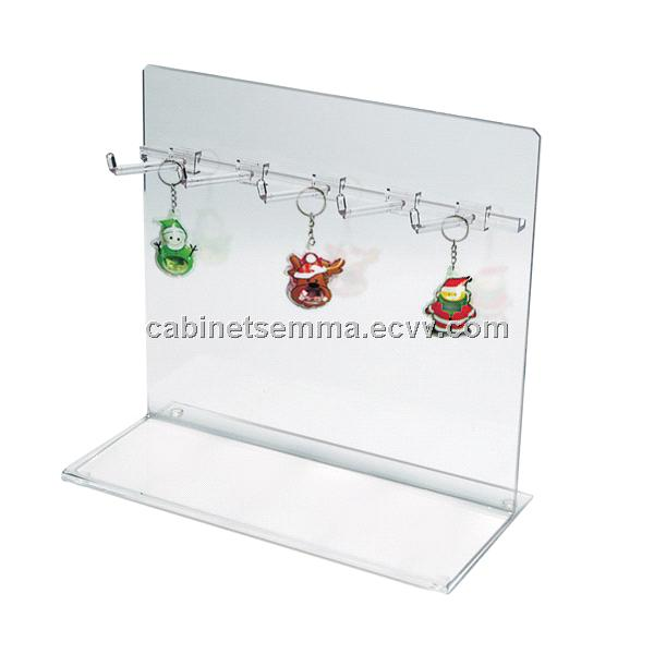 Hot Sale-Acrylic Counter Hook Display, Keychains Display