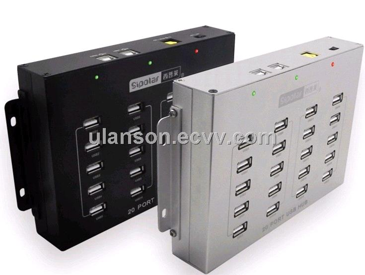Industrial USB HUB 20ports High-Power USB HUB for Bitcoin Mining or VOIP