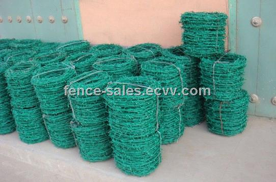 PVC Coated Barbed Wire Fence Mesh