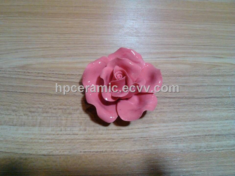 Pink Ceramic Roses, Artifical Flower