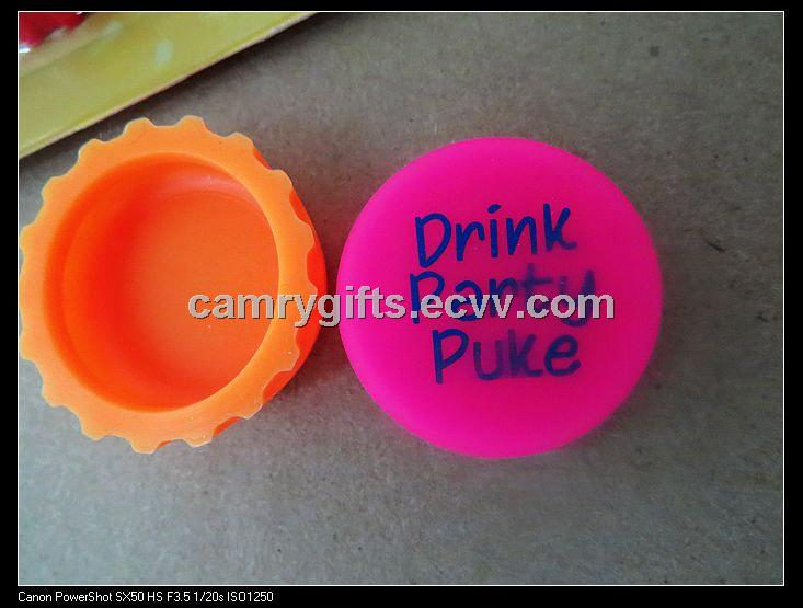Promotional environmental food grade FDA silicone beer cover
