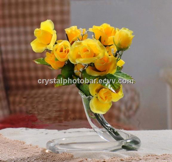 Special Snake Crystal Glass Vase With Silk Flowers Purchasing