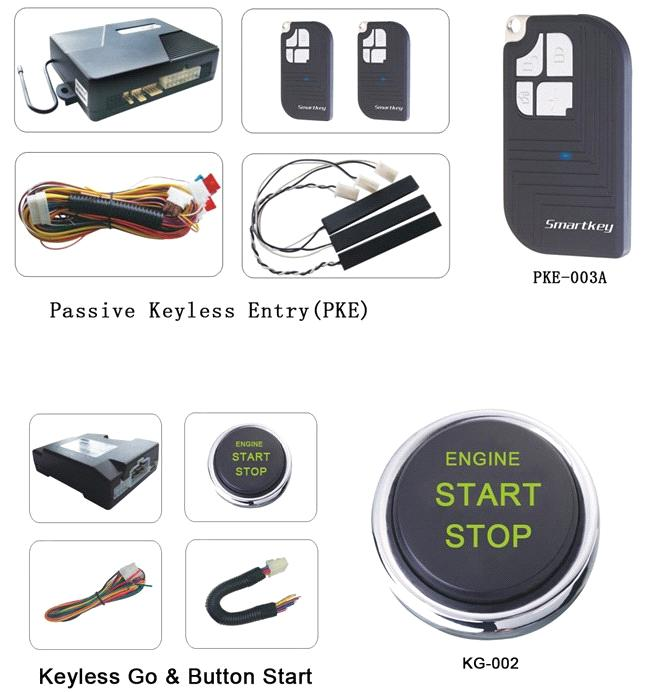 Top Remote start car alarm ,passive keyless entry,push button start ...