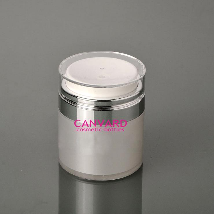 wholesale 50g high end airless press jar for eye cream
