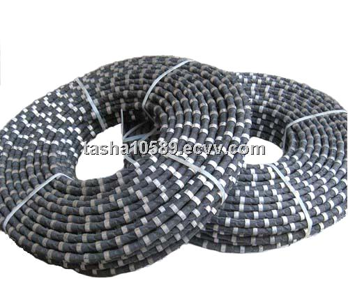 diamond wire saw with 40 beads 7.3mm diameter for multi-wire machine rubber sintered