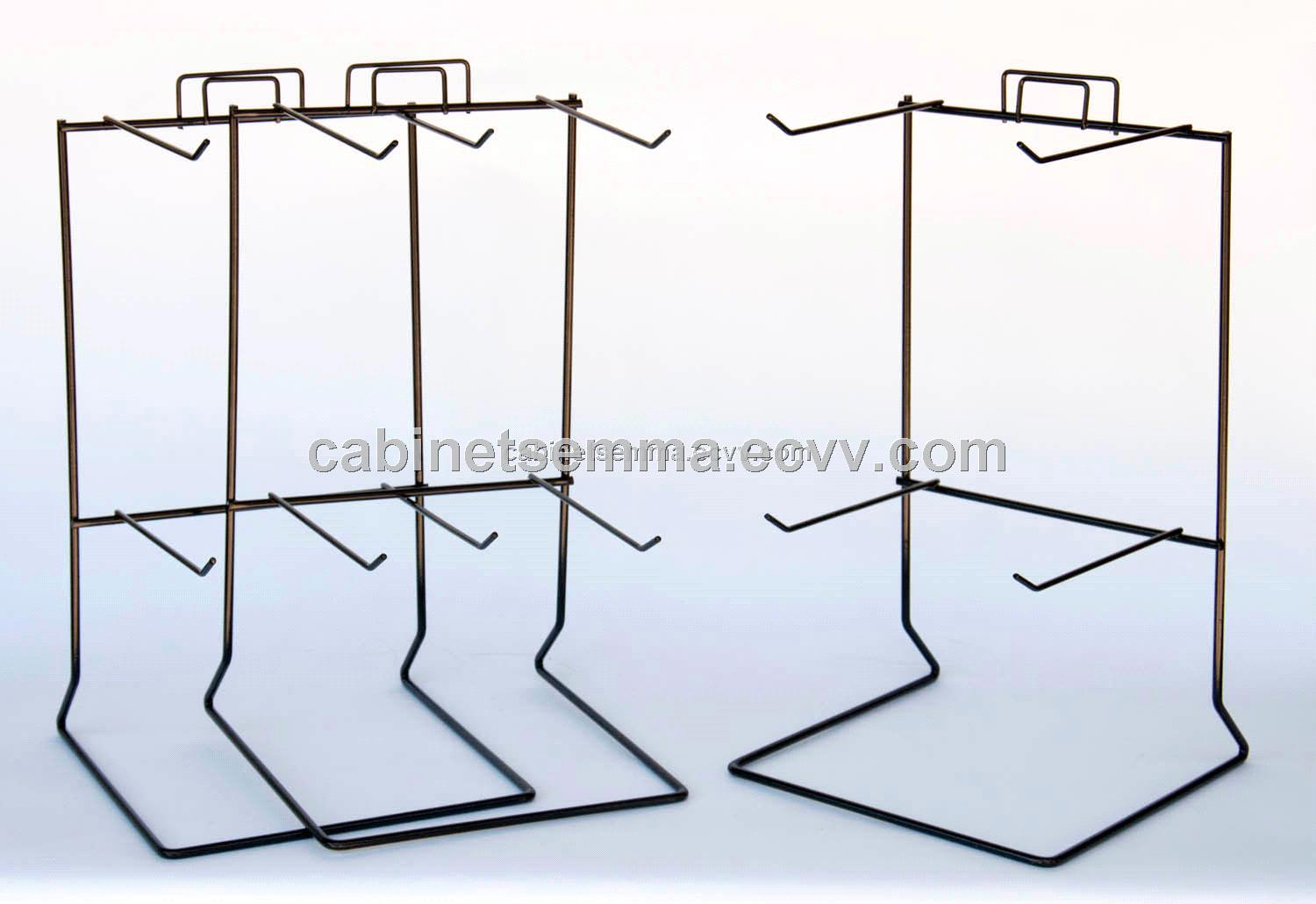Counter Display Wire Rack 2 Tiers Keychains Metal Holder