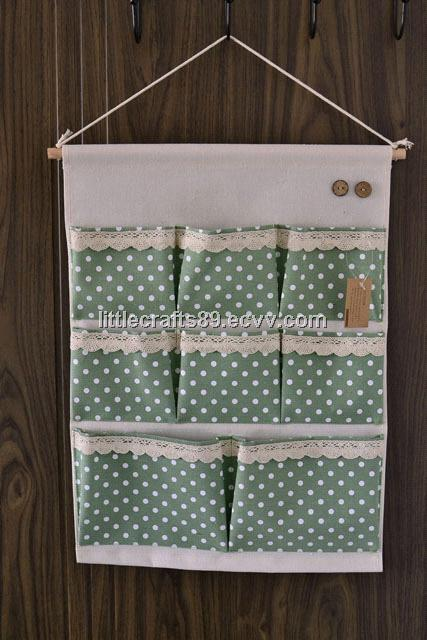 8pcs pocket fabric hanging storage organizer
