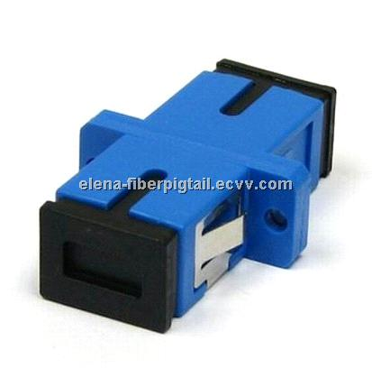 SC Optical Adapter With Black Color Boot