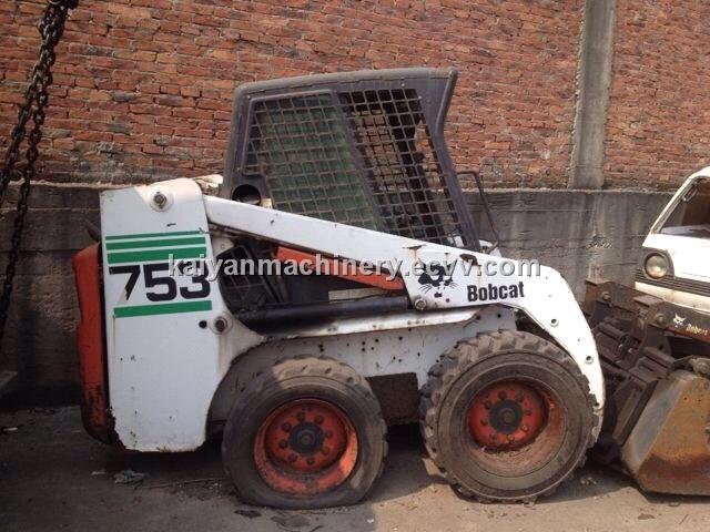 Used Bobcat 753 Mini Wheel Loader Original Paint Ready for Sell