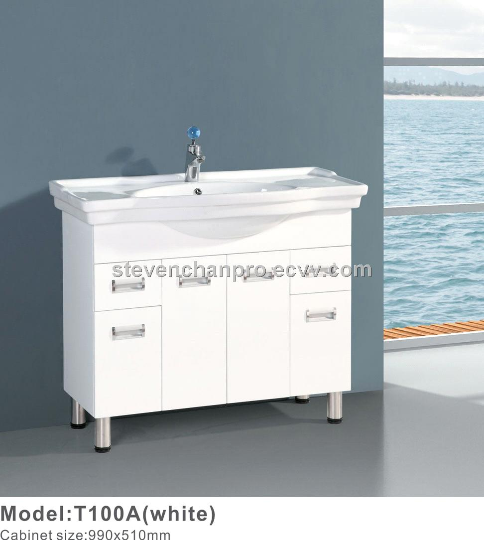 White PVC bathroom vanity,bathroom cabinets T100A purchasing ...