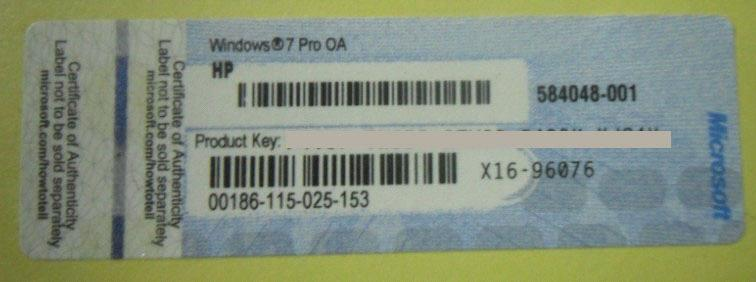 windows 7 pro license key