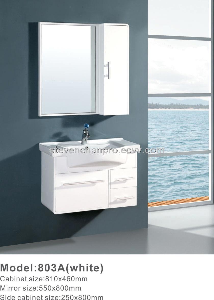 white Modern PVC bathroom cabinet,wall bathroom cabinet BL-803A ...