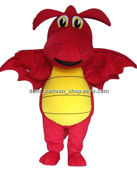 Adults red dragon mascot cartoon costume disney movie mascot costume party fancy dress  sc 1 st  ECVV.com & Adults red dragon mascot cartoon costume disney movie mascot costume ...